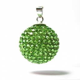 BOLA - crystal 18mm (lime grön)