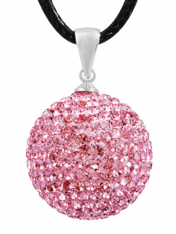 BOLA - crystal 18mm (rosa)