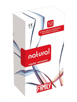 Family natural kondom 12st  (regular)