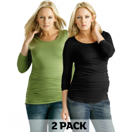 Mammatopp Ruched Top 2pack