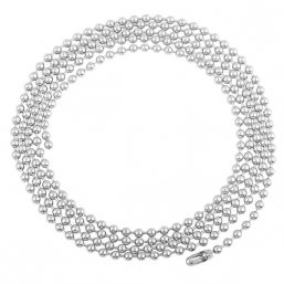 Silver kedja Big Beads 100cm
