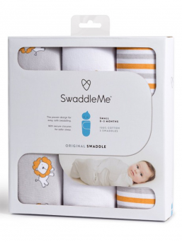 SwaddleMe Linda 0-3mån 3-pack (lions and stripes)