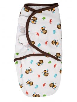 SwaddleMe Linda 0-3mån (Monkey in jungle)