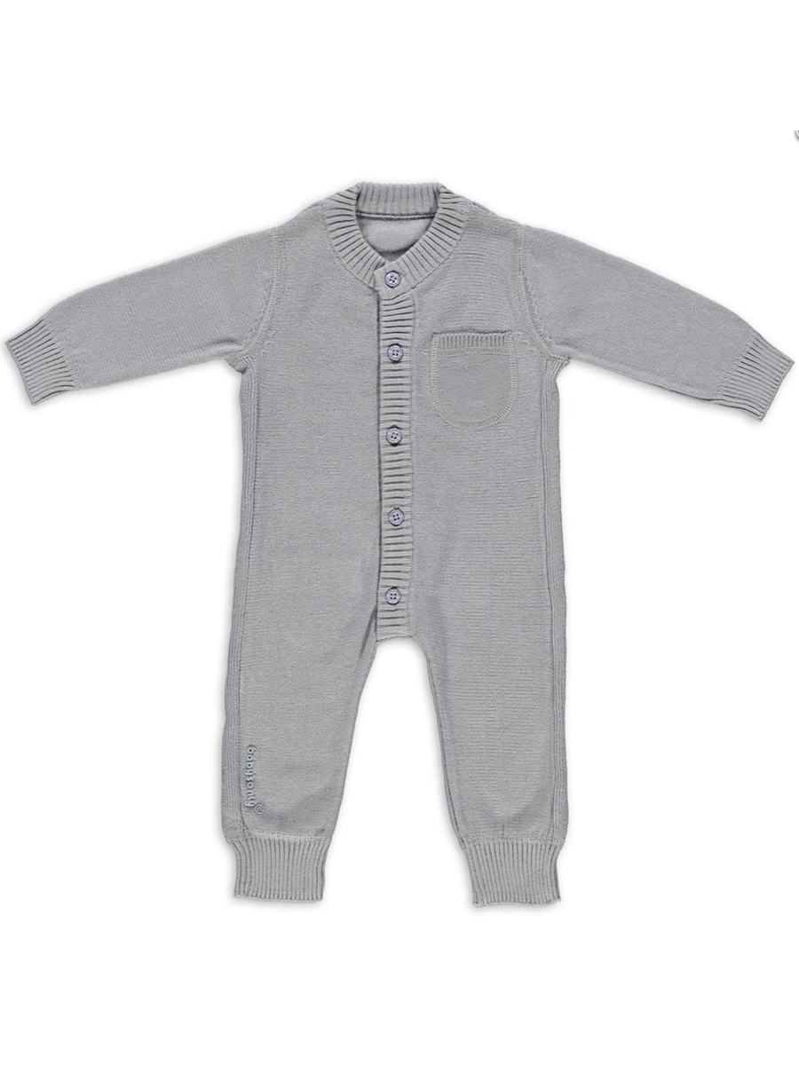 10dbc52324a5 Baby's Only Stickad Baby Overall, grå | GraviditetsÄlva.se ...