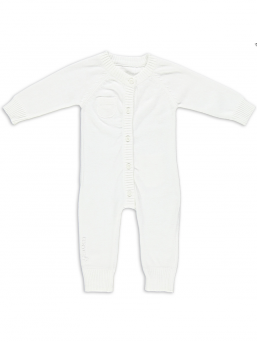 Baby's Only Stickad Baby Overall (vit)