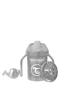 Twistshake Cup 230ml 4+m Pearl Grey Non Spill Cups