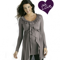 Gravid skjorta Pleat Top (mauve)