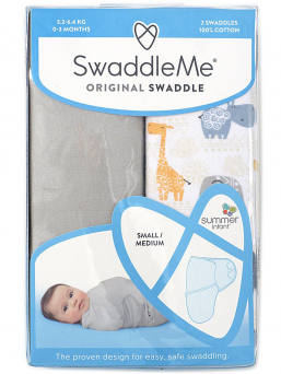 SwaddleMe Linda 0-3mån 2-pack (bohemian jungle)