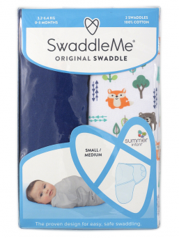 SwaddleMe Linda 0-3mån 2-pack (into the woods)