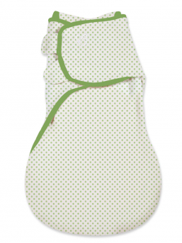 SwaddleMe Wrapsack Linda 4-9mån (green dot)