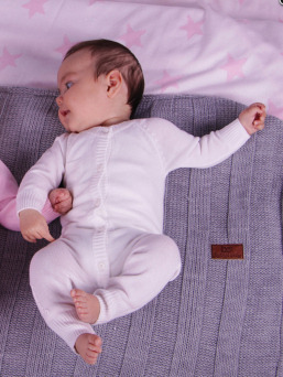 Baby's Only Stickad Baby Overall (rosa)