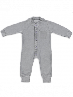 Baby's Only Stickad Baby Overall (grå)